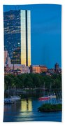 Boston By Night Beach Towel