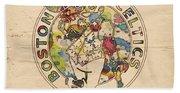 Boston Celtics Logo Vintage Beach Sheet