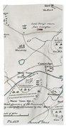 Boston-concord Map, 1775 Beach Towel