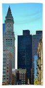 Boston Financial District Beach Towel