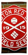 Boston Red Sox 1915 World Champions Beach Towel by Stephen Stookey