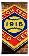 Boston Red Sox 1916 World Champions Beach Towel