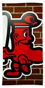 Boston Red Sox 1950s Logo Beach Towel by Stephen Stookey