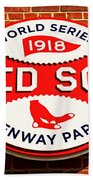 Boston Red Sox World Series Champions 1918 Beach Sheet