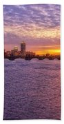 Boston Sky Beach Towel by Joann Vitali