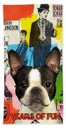 Boston Terrier Art - 30 Years Of Fun Movie Poster Beach Towel
