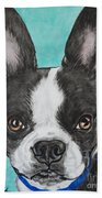 Boston Terrier Beach Towel