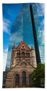 Boston Trinity Church Beach Towel