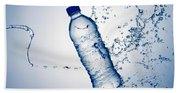 Bottle Water And Splash Beach Sheet