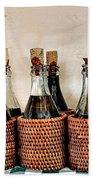 Bottles In Baskets Beach Towel