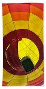 Bottoms Up Hot Air Balloon Beach Towel
