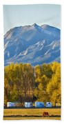 Boulder County Colorado Flatirons Autumn View Beach Towel