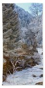 Boulder Creek Winter Wonderland Beach Towel