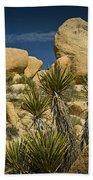Boulders In The Joshua Tree National Park Beach Towel
