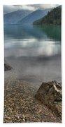 Boulders On The Edge Of Cheakamus Lake Beach Towel
