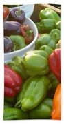 Bountiful Peppers Beach Towel