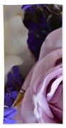 Roses And Violets  Beach Towel