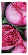 Bouquet Of Pink Roses Beach Towel