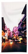 Bourbon Street Early Evening Beach Towel