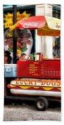 Bourbon Street Lucky Dog Beach Towel by Bill Cannon