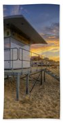 Bournemouth Beach Sunrise Beach Towel
