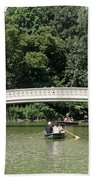 Bow Bridge And Row Boats Beach Towel