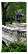 Bow Bridge Flower Pots - Central Park N Y C Beach Towel