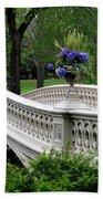Bow Bridge Flower Pots - Central Park N Y C Beach Sheet