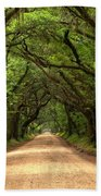Bowing Oak Trees Beach Towel