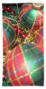 Bowl Of Christmas Colors Beach Sheet
