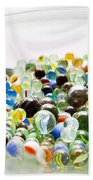 Bowl Of Marbles Beach Towel