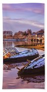 Bowling Harbour 03 Beach Towel