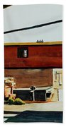 Box Factory Beach Towel by Edward Hopper