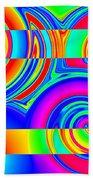 Boxed Rainbow Swirls 1 Beach Towel