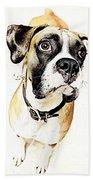 Boxer Dog Poster Beach Towel