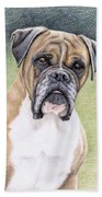 Boxer Portrait Beach Towel