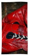 Boxing Gloves Beach Towel by Paul Ward