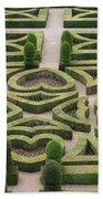 Boxwood Garden - Chateau Villandry Beach Towel