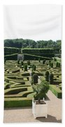 Boxwood Garden Design - Chateau Villandry Beach Towel