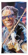 Boyd Tinsley And 2007 Lights Beach Towel by Joshua Morton