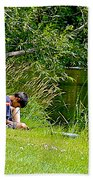 Boys Fishing In Pipestone National Monument-minnesota Beach Towel