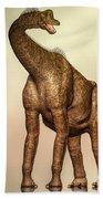 Brachiosaurus Dinosaur Beach Sheet