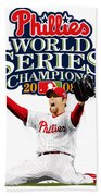 Brad Lidge Ws Champs Logo Beach Towel