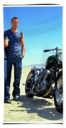 Actor - Brad Pitt With Shinya Kimura Beach Towel