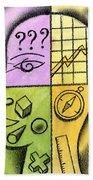 Brainstorming Beach Towel by Leon Zernitsky