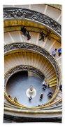 Bramante Spiral Staircase In Vatican City Beach Towel