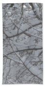 Branched Snow Beach Towel