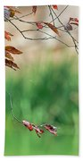 Branches And Leaves Beach Towel