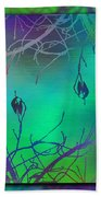 Branches In The Mist 35 Beach Towel