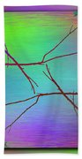 Branches In The Mist 83 Beach Towel